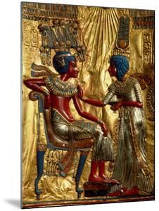 Gold Throne Depicting Tutankhamun and Wife, Egypt by Kenneth Garrett