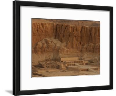 Hatshepsut's Mortuary Temple Rises Against a Desert Bluff
