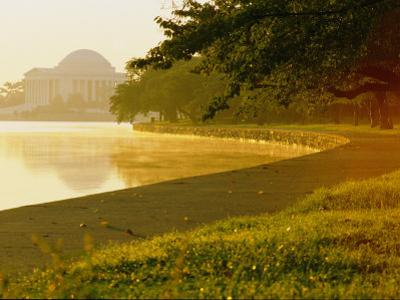 Hazy Shot of the Tidal Basin at Potomac Park by Kenneth Garrett