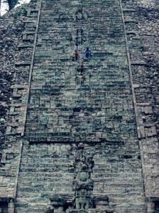 Hieroglyphic Staircase, Temple 26, Copan, Maya, Honduras by Kenneth Garrett
