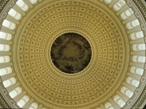 Interior of Dome of the U.S. Capitol Building, Washington, D.C. by Kenneth Garrett