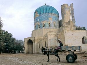 Masjid Sabz, the Green Mosque in Balkh, Afghanistan by Kenneth Garrett