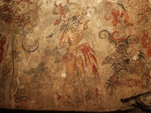 Maya Murals, Maya, San Bartolo, Guatemala by Kenneth Garrett