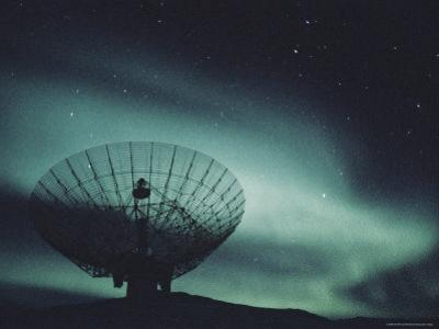 Northern Lights above a Radar Station in Greenland