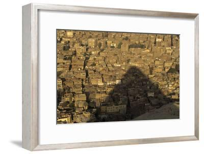One of the Pyramids of Giza Casts a Shadow over the City