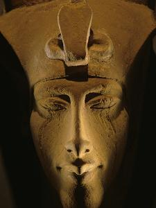Pharaohs of the Sun, Sandstone Image of Akhenaten at Karnak, Egypt by Kenneth Garrett