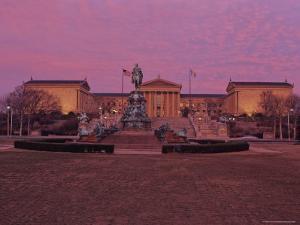 Philadelphia Art Museum at Dusk by Kenneth Garrett