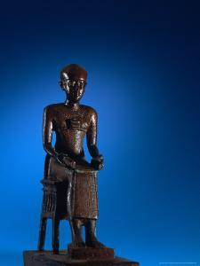 Physician, Statue of Imhotep, Tomb of Qar, Egypt by Kenneth Garrett