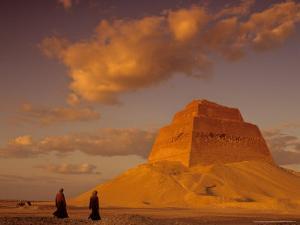 Pyramid of King Sneferu, Meidum, Old Kingdom, Egypt by Kenneth Garrett