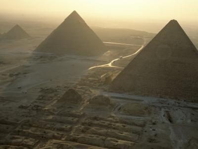 Pyramids at Giza, Giza Plateau, Egypt by Kenneth Garrett