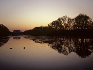Reflecting Pool and Lincoln Memorial at Dusk, Washington, D.C. by Kenneth Garrett