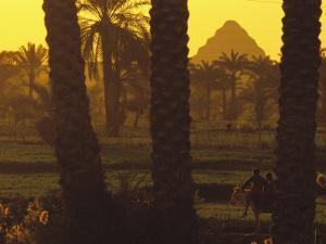 Scenic with Silhouette of Step Pyramid of Djoser by Kenneth Garrett