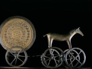 Solar Disk with Chariot and Horse Replica, Bronze Age, Germany by Kenneth Garrett