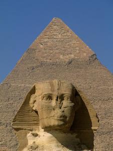 Sphinx and Khafre Pyramid, 4th Dynasty, Giza, Egypt by Kenneth Garrett
