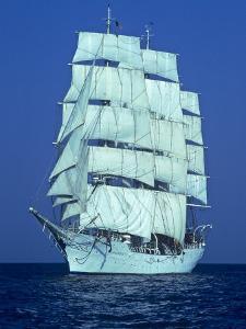 Tall Ship at Sea by Kenneth Garrett