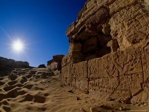 Temple of Alexander the Great, near El Bawati, Bahariya Museum, Valley of the Golden Mummies, Egypt by Kenneth Garrett
