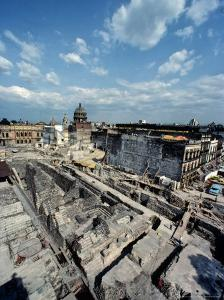 Tenochtitlan, Templo Mayor, Aztec, National Museum of Anthropology and History, Mexico City, Mexico by Kenneth Garrett