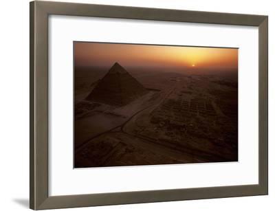 The Giza Plateau at Sunset