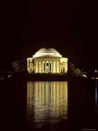 The Jefferson Memorial at Night, Reflected in the Tidal Basin, Washington, D.C.