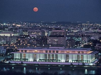 The Kennedy Center Lit Up at Night, Washington, D.C.