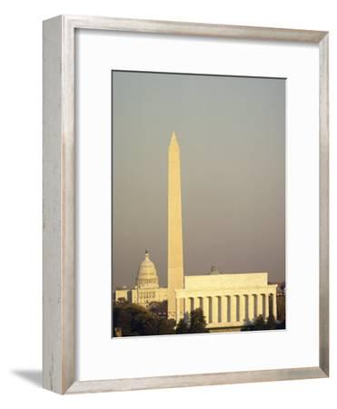 The Lincoln Memorial, Washington Monument, and the Capitol Building