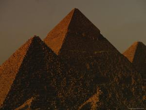 The Pyramids of Giza in the Late Afternoon Light by Kenneth Garrett