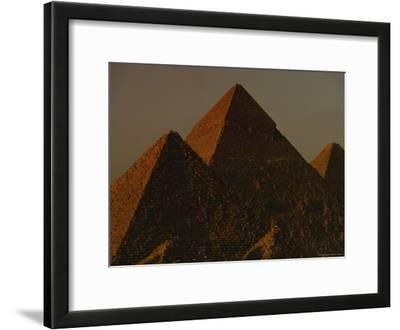 The Pyramids of Giza in the Late Afternoon Light