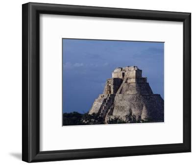 Tourist, Pyramid, Uxmal, Mexico