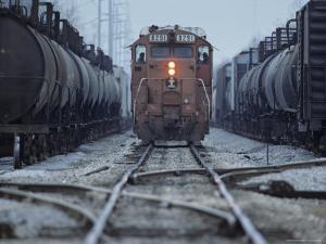 Train on the Tracks by Kenneth Garrett