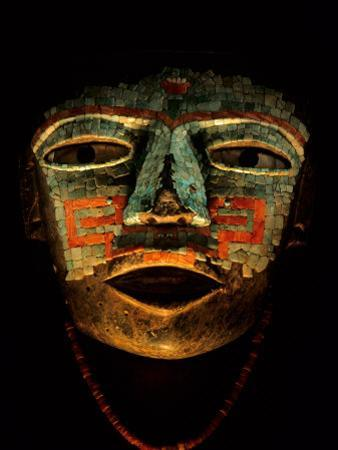 Turquoise, Mosaic, Mask, Teotihuacan, Mexico