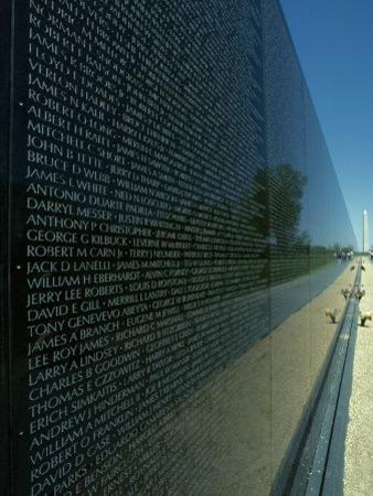 Vietnam Memorial with Washington Monument in Background, Washington, D.C.