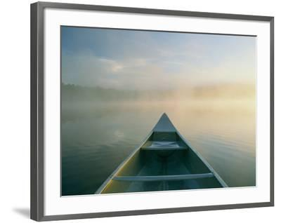 View from a Canoe on a Foggy River by Kenneth Garrett