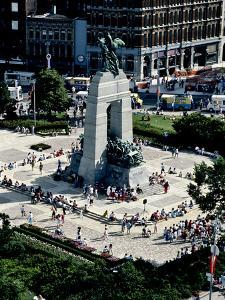 A High Angle View of Canada's War Memorial in Ottawa by Kenneth Ginn