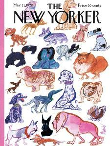 The New Yorker Cover - March 21, 1970 by Kenneth Mahood