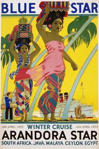 Blue Star Arandora Star Poster by Kenneth Shoesmith
