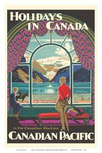 Holidays In Canada - Canadian Rockies - Canadian Pacific Railway by Kenneth Shoesmith