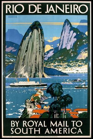 Poster Advertising Rio De Janeiro