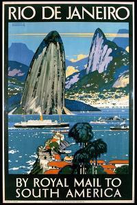 Poster Advertising Rio De Janeiro by Kenneth Shoesmith