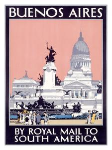 Royal Mail Line, Buenos Aires by Kenneth Shoesmith
