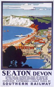 Seaton, Devon, Poster Advertising Southern Railway by Kenneth Shoesmith