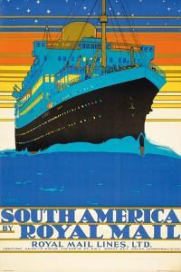 'South America by Royal Mail Lines' by Kenneth Shoesmith