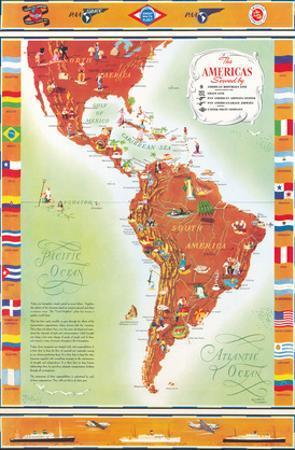 The Americas Served by Pan American Airways