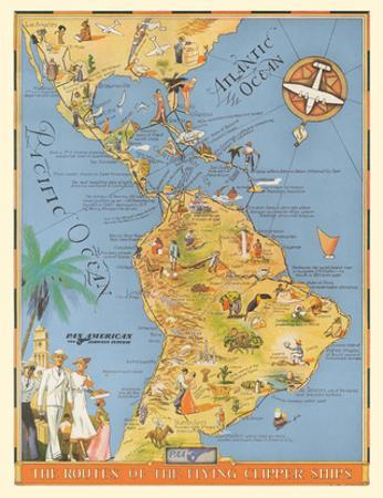 The Routes of the Flying Clipper Ships - Pan American Airways PAA