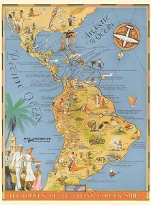 The Routes of the Flying Clipper Ships - Pan American Airways PAA by Kenneth W^ Thompson