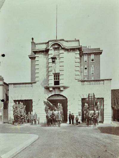 Kensington Fire Station, No 13 Old Court Place, Kensington and Chelsea, London, 1905--Photographic Print