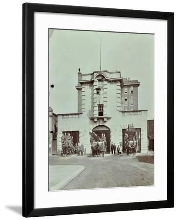 Kensington Fire Station, No 13 Old Court Place, Kensington and Chelsea, London, 1905--Framed Photographic Print