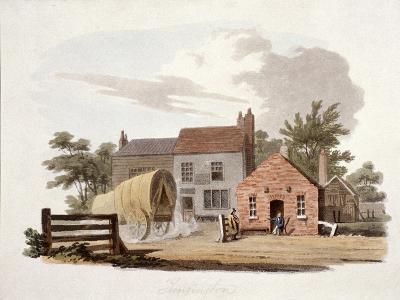 Kensington Turnpike, London, C1810-William Pickett-Giclee Print