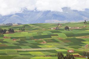 A Patchwork Landscape of Fields Outside the Town of Chinchero by Kent Kobersteen