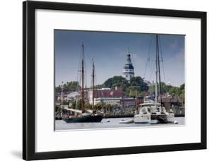 Downtown Annapolis and the State Capitol Dome Seen from the Waterfront by Kent Kobersteen