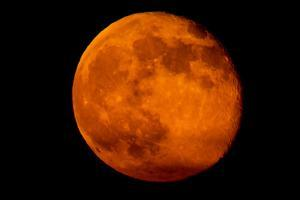 One Day after the 2013 Super Moon, the Brightest and Largest Full Moon of the Year by Kent Kobersteen